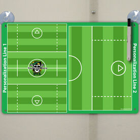 "Lacrosse Custom Dry Erase Coach Board Guys Full And Half Field - 18"" X 12"""