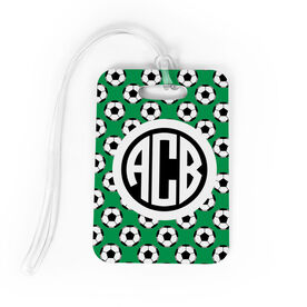 Soccer Bag/Luggage Tag - Personalized Soccer Pattern Monogram