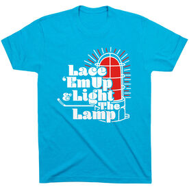 Hockey Short Sleeve T-Shirt - Lace 'Em Up And Light The Lamp