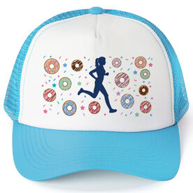 Running Trucker Hat - Donuts Female Runner