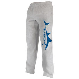 Fly Fishing Fleece Sweatpants Bluefish Silhouette