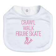 Figure Skating Baby Bib - Crawl Walk Figure Skate