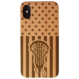 Girls Lacrosse Engraved Wood IPhone® Case - USA Lacrosse