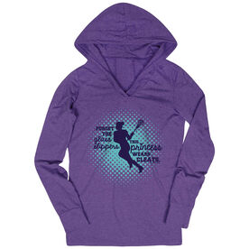 Women's Lacrosse Lightweight Performance Hoodie Forget the Glass Slippers This Princess Wears Cleats
