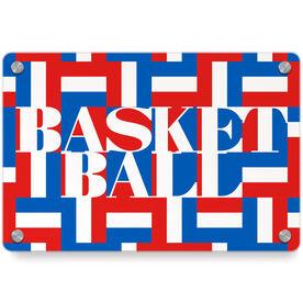 Basketball Metal Wall Art Panel - Basketball Mosaic