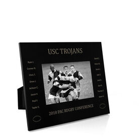 Rugby Engraved Picture Frame - Team Name With Roster