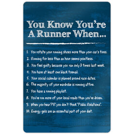"""Running 18"""" X 12"""" Wall Art - You Know You're A Runner When"""