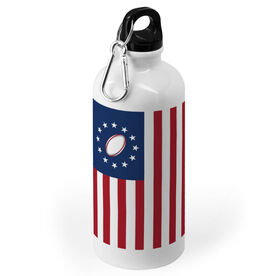 Rugby 20 oz. Stainless Steel Water Bottle - American Rugby Ball
