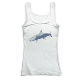 Fly Fishing Vintage Fitted Tank Top - Bonefish