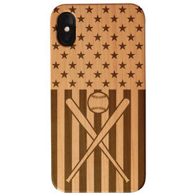 Softball Engraved Wood IPhone® Case - USA Softball