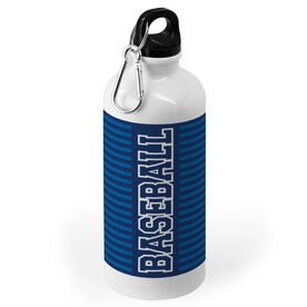 Baseball 20 oz. Stainless Steel Water Bottle - Word With Stripes