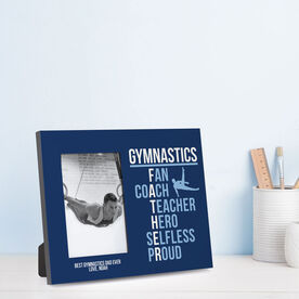 Gymnastics Photo Frame - Gymnastics Father Words (Guy Gymnast)
