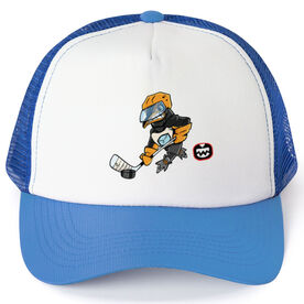 Seams Wild Hockey Trucker Hat - Chinstrap