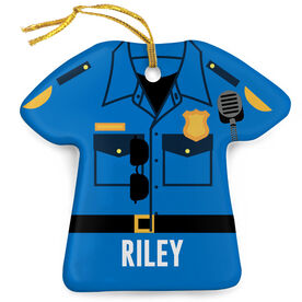 Personalized Porcelain Ornament - Police Outfit