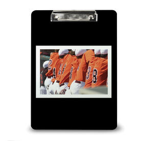 Baseball Custom Clipboard Baseball Your Photo Solid Background