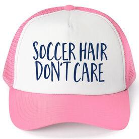 Soccer Trucker Hat - Soccer Hair Don't Care