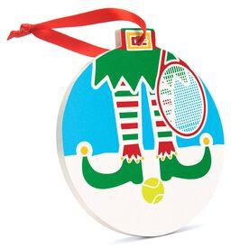 Tennis Round Ceramic Ornament - Elf Graphic