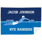 Swimming Premium Blanket - Personalized Swimming Guy Captain