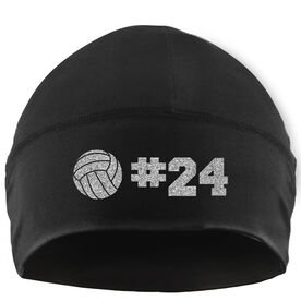 Beanie Performance Hat - Volleyball with Number