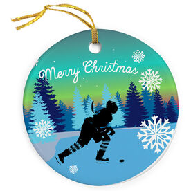 Hockey Porcelain Ornament Anytime Play