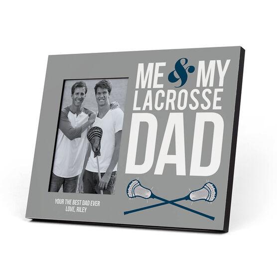 Guys Lacrosse Photo Frame - Me & My Lacrosse Dad | ChalkTalkSPORTS
