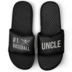 Baseball Black Slide Sandals - #1 Baseball Uncle