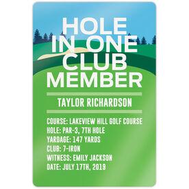"Golf 18"" X 12"" Aluminum Room Sign - Custom Hole In One"