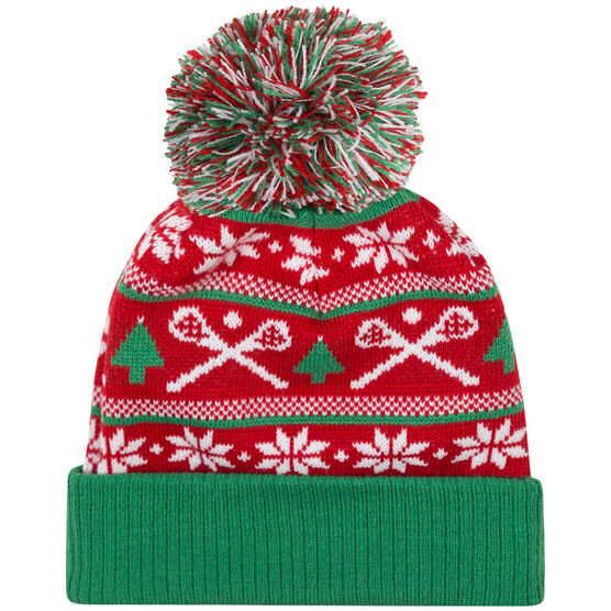 Lacrosse Knit Hat - Crossed Sticks Ugly Sweater