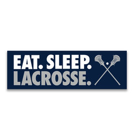 "Guys Lacrosse 12.5"" X 4"" Removable Wall Tile - Eat Sleep Lacrosse"