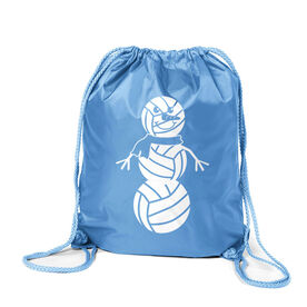 Volleyball Sport Pack Cinch Sack - Volleyball Snowman