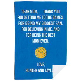 Volleyball Premium Blanket - Dear Mom Heart