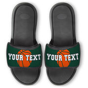 Basketball Repwell® Slide Sandals - Basketball with Text