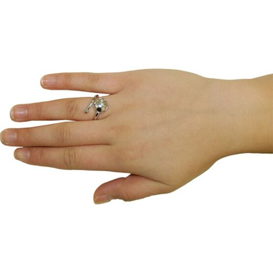 Soccer Ring with Cubic Zirconia
