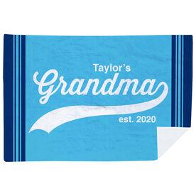 Personalized Premium Blanket - Rocking Being A Grandma