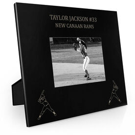 Softball Engraved Picture Frame - Two Girl Players