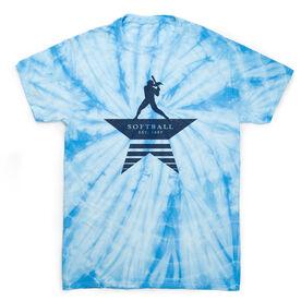 Softball Short Sleeve T-Shirt - Make History Tie Dye