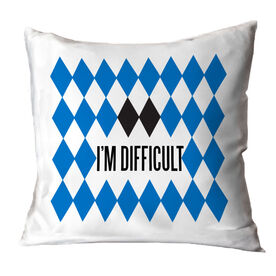 Skiing and Snowboarding Throw Pillow - I'm Difficult