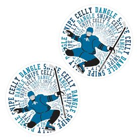 Hockey Stickers - Dangle Snipe Celly Player (Set of 2)