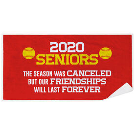 Softball Premium Beach Towel - 2020 Season Was Canceled But Friendships Last Forever