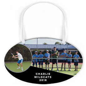Tennis Oval Sign - Team and Player Photo