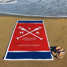 Personalized Premium Beach Towel - Custom Logo