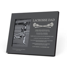 Guys Lacrosse Photo Frame - Lacrosse Dad Poem