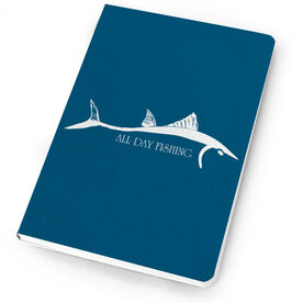 Fly Fishing Notebook Bluefish Silhouette