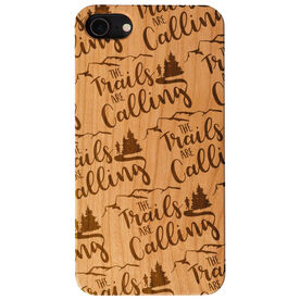 Running Engraved Wood IPhone® Case - The Trails Are Calling