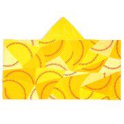 Softball Hooded Towel - Stitches