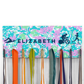 Hooked On Medals Hanger Personalized Female Triathletes