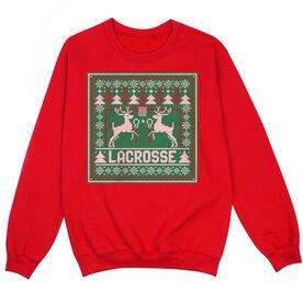 Lacrosse Crew Neck Sweatshirt - Lacrosse Christmas Knit