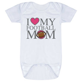 Football Baby One-Piece - I Love My Football Mom