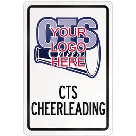 "Cheerleading 18"" X 12"" Aluminum Room Sign Cheerleading Custom Logo With Team Name"