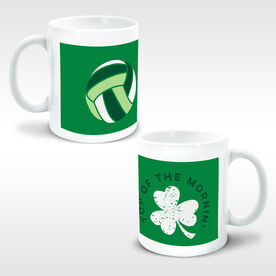 Volleyball Coffee Mug Top of The Mornin' Shamrock